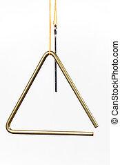 driehoek, vrijstaand, op wit