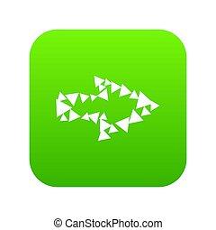 driehoeken, groene, omtrek, pijl beeld