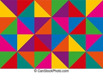 driehoeken, kleurrijke, abstract, driehoekig, vector, achtergrond, geometrisch