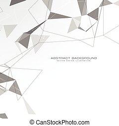 driehoeken, witte , abstract, achtergrond