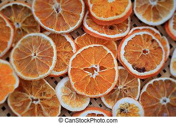 dries, laranja, aroma, temperos