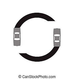 drift car circle design vector