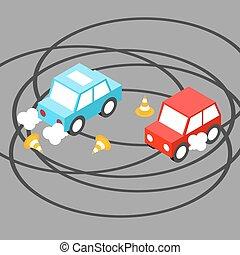 Drift car isometric