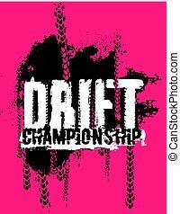Drift lettering Image - Off-Road hand drawn grunge drift...