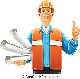 driftsleder, arbejder, affattelseen, scroll