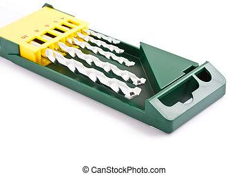 Drill bits in case