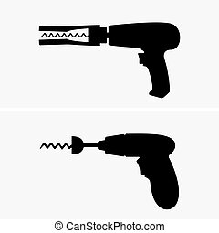 Drill corkscrews, shade pictures