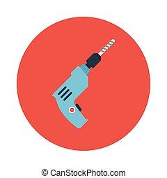 drill flat icon