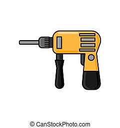 drill flat illustration. icon for design and web.