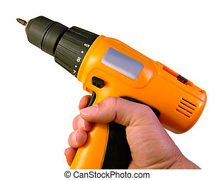 Hand holding drill