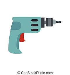 Drill icon, flat style