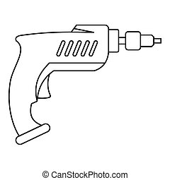 Drill icon outline