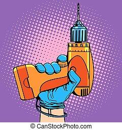 Drill in hand work repair