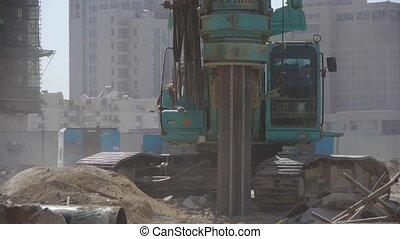 drill machinery drilling in land,Construction...