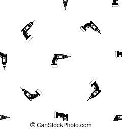 Drill pattern seamless black