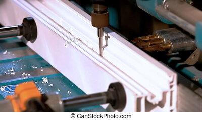 Drill prepare hole plastic window