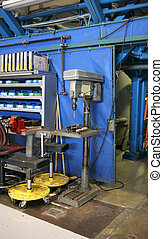 Drill Press in an Aircraft Plant