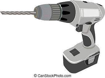 Drill. The Illustration in format vector eps