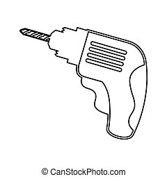 drill tool construction icon