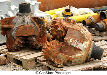 A view at oil drilling tools.