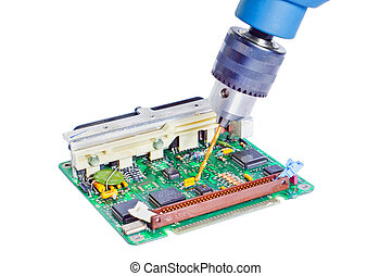 drilling and repair of the electronic engine control unit