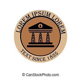 Drilling company design logo