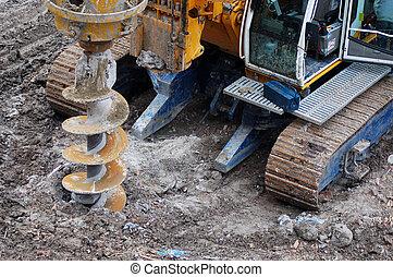 Drilling bulldozer construction