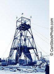 Drilling derrick in MaCheng iron mine, Luannan County, Hebei Pro
