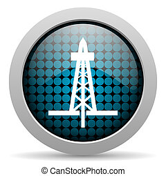 drilling glossy icon