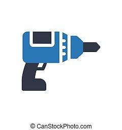drilling  glyph color icon