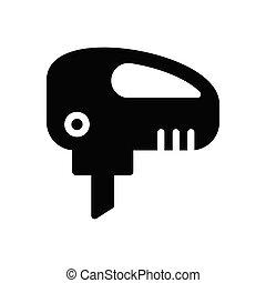 drilling  glyph flat icon