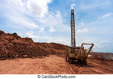 Drilling holes in coal mine - Drilling holes in a coal mine