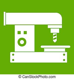 Drilling machine icon green