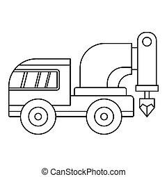 Drilling machine icon outline