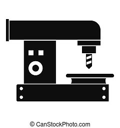 Drilling machine icon, simple style