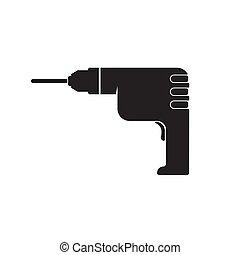 Drilling machine icon. Trendy Drilling machine logo concept...