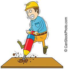 drilling man