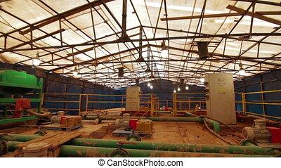 Drilling mud pump station indoor