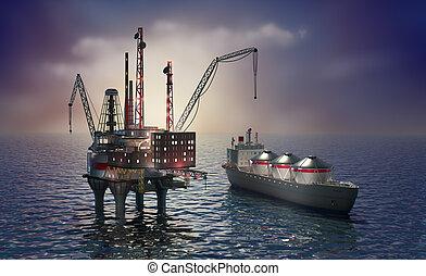 Drilling offshore platform
