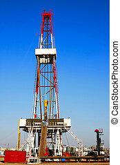 A land drilling rig in Shengli Oil Plant, CHN