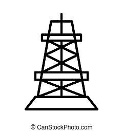 drilling rig illustration design