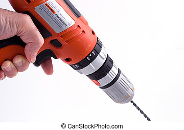 drilling - a hand using a drill (part of a set)
