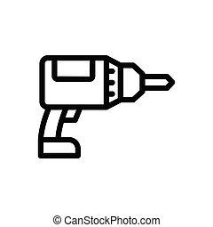 drilling  thin line icon
