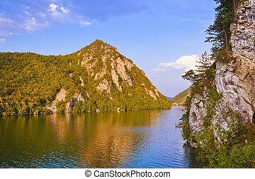 drina, serbia, natura, -, narodowy park, rzeka