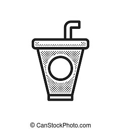 Drink American Football icon dotted style
