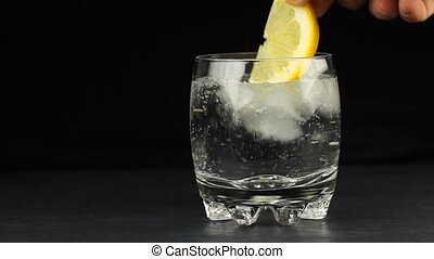 Drink and lime slice 1080p HD Video