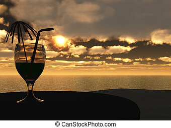 Drink at sunset