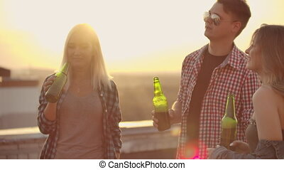 Drink beer on the roof