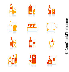 Drink bottle icons | JUICY series - Traditional non- and...