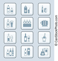 Drink bottles icons | TECH series - Traditional non- and...